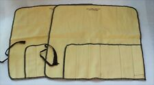 Vintage Miller & Paine Sterling Silver Flatware Storage Roll Up Bags - Set of 2