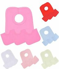 BabyPrem 4 Large Cotton Pop Over Head Bibs White Pink Red Blue Baby Shower Games