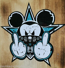 Mickey Malo turquesa Oldschool Pegatina / Motorista Chopper Stickerbomb JDM