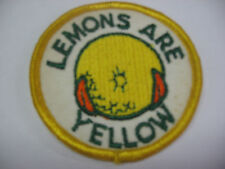 LEMONS ARE YELLOW Embroidered Harley Biker Patch