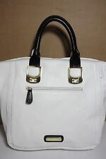 STEVE MADDEN PEBBLE CONVERTIBLE WHITE/BLACK HOBO HANDBAG PURSE NEW WITH TAG LQQK