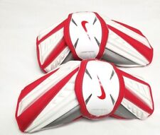 New Nike Huarache Large White/Red Lacrosse Protective Arm Guards
