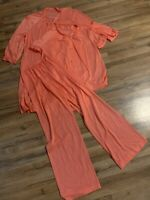 Vintage 3 Piece Henson Kickernick Silky Nylon Pajama Size S/M Set