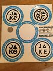 Burton Snowboard Stickers, A Day For Jake March 13, 2020, 1 sheet-4 stickers.