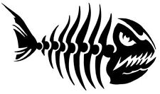 2 Aufkleber Angry Fish 6 Fisch Auto Sticker Decal 17 Cm Tuning JDM