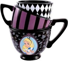 Disney Alice in Wonderland Stacked Tea Cups Mug Triple Mug Nwt