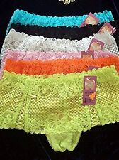 Lot Of 6 Sexy Boyshorts Panties Boxers B136 Womens Underwear Lingerie Size L New
