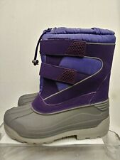 Lands End Kids Girls Snow Plow Winter Boots Purple/Gray 473024-H16 Youth Size 5