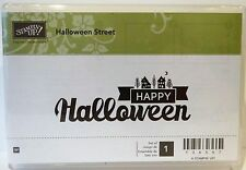Stampin Up HALLOWEEN STREET wood mount single stamp NEW Happy Halloween