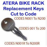 Atera Bike Cycle Rack Carriers Replacement Key Cut to Code 001 to 200