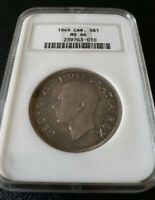 1949 Canada Silver Dollar NGC MS66 (Flawless, Should Be MS67 Or MS68) Old Holder