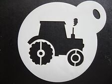 Laser cut small tractor new design cake, cookie, craft & face painting stencil