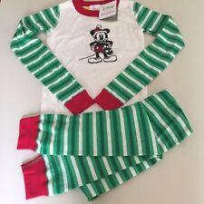 060c8367d8 Hanna Andersson 140 USA 10 Long John Pajamas Organic Cotton Disney Holiday