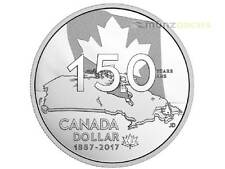 1$ SPECIAL proof plata Dólar HOME AND OUR NATIVE LAND CANADÁ 2017 PP PLATA