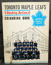RARE 1964 Toronto Maple Leafs Hockey Action Colouring Book - Horton, Sawchuk ++