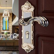 Aluminum Entry Indoor Lever Door Lock Set Bedroom Handle Knob Lockset & Keys USA