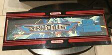 Original Nintendo GRADIUS Coin Op  Arcade Video Game Marquee Plexiglass