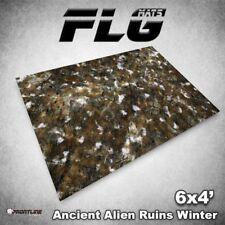 FLG Mats: Ancient Snow Ruins 6x4' High Quality Neoprene Tabletop Gaming Mat