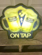 Lighted Bud Light Beer Sign