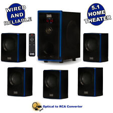 Acoustic Audio Home Theater 5.1 Bluetooth Speaker System & Digital Optical Input