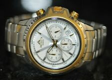 Men's Aspecta Geneve Chronograph White Dial Two Tone Stainless Steel Watch AS713