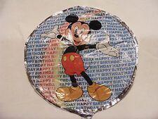 "Disney Mickey Mouse Happy Birthday ""Open Arms"" Mylar/Foil Mini-Balloon 9"" Dia"