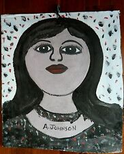 Reduced!!!  REV. ANDERSON JOHNSON-Woman with Choker Painting -African American