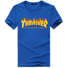 Thrasher Logo T-Shirt Tee Custom  Skateboarding Magazine Skate Gear up S - 3XL