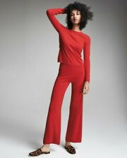 NEW 100% CASHMERE LOUNGE SET RED NEIMAN MARCUS Red Pants & Sweater XS FABULOUS!