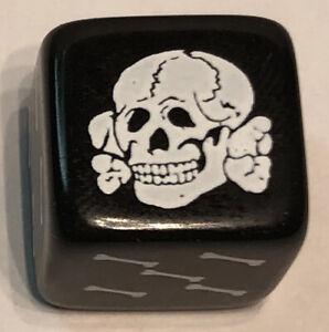 DOZEN D6 16mm Dice Pirate Skull Cross Bones RPG D&D Bunco Farkel Yahtze Dungeon