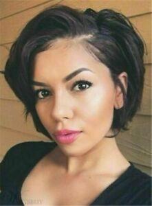 Heat Resistant Wig New Fashion Charm Women's Short Dark Brown Straight Full Wigs