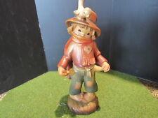 "Anri Ferrandiz Threadbare, boy with empty pockets, Figurine Woodcarving 6"""