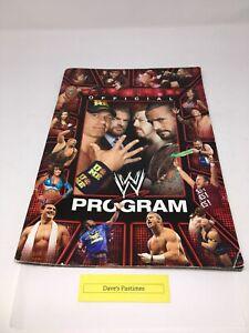 WWE 2012 OFFICIAL PROGRAM BOOK SUPERSTARS DIVAS THE ROCK BROCK LESNAR AJ LEE RED