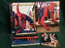 LOT OF4 MARVEL COMICS SPIDERMAN ZIPPERED PENCIL POUCH CASE / STICKERS / FOLDERS