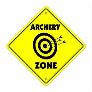 Archery Crossing Decal Zone Xing caution bow arrow target shooting hunting