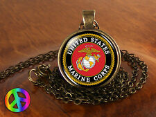 US United States Marine Corps Military Necklace Jewelry Pendant Mens Women Gift
