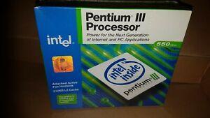 INTEL PENTIUM III 550MHZ SLOT 1 PROCESSOR + Heatsink & Fan BX80525U550512ESL3FJ