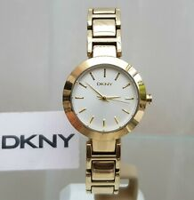 DKNY Ladies Designer Watch Gold plated bracelet and case RRP £169 (539)