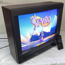 """RARE 19"""" RCA XL-100 CRT TV Retro Gaming Color Tube Television Wood Grain Remote"""