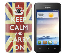 Involucro di protezione in TPU per Huawei Ascend y330 Custodia Case Cover Keep Calm and Carry On