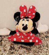 """Applause Disney~Minnie Mouse~Hand Puppet Plush Toy Red Dress 12"""" Long Doll"""