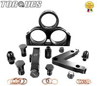 Twin Bosch 044 Fuel Pumps+ Bosch Filter Manifold Cradle Assembly KIT In Black