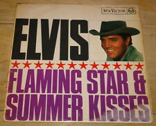 ELVIS PRESLEY FLAMING STAR AND SUMMER KISSES RARE UK RAC VICTOR RED SPOT LP 1965