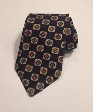 Christopher Hayes Navy Blue Silk Neck Tie Wide Necktie