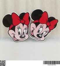 5 X 39MM Rojo Minnie Mouse Moño Corte Láser piso nuevo Diademas arcos elaboración de tarjetas