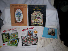 LOT OF GREAT STAINED GLASS PATTERN BOOKS & PATTERNS - ADVANCED PROJECTS; LOT #2