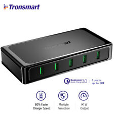 Tronsmart U5TF 6-Port USB Wall Charger Desktop Charger Quick Charge 3.0 & VoltiQ