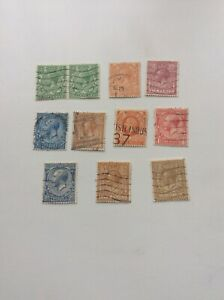 GB KING GEORGE V 1910-36 JOB LOT OF USED STAMPS ALL SHOWN IN PICTURE/SCAN