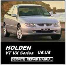 HOLDEN VT VX COMMODORE CALAIS V6 V8 LS1   WORKSHOP SERVICE REPAIR MANUAL CD