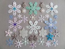 *32* SNOWFLAKE EMBELLISHMENTS. CHRISTMAS CARD MAKING, SCRAPBOOKING *BARGAIN*